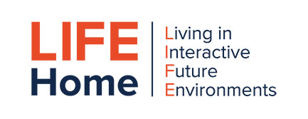 text reading Life Home: Living in Interactive Future Environments